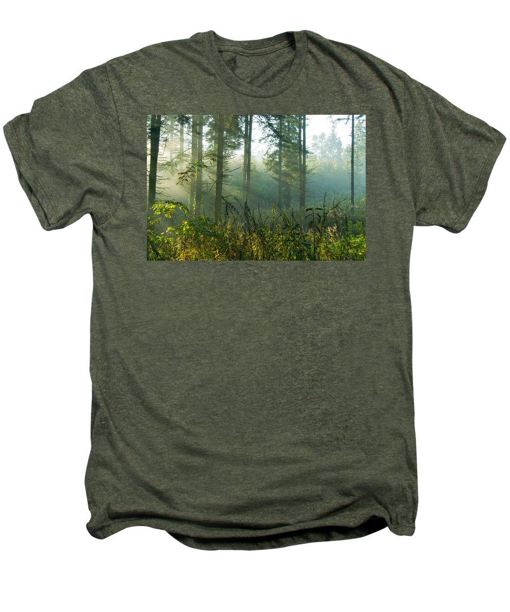 Nature Men's Premium T-Shirt featuring the photograph A New Day Has Come by Daniel Csoka