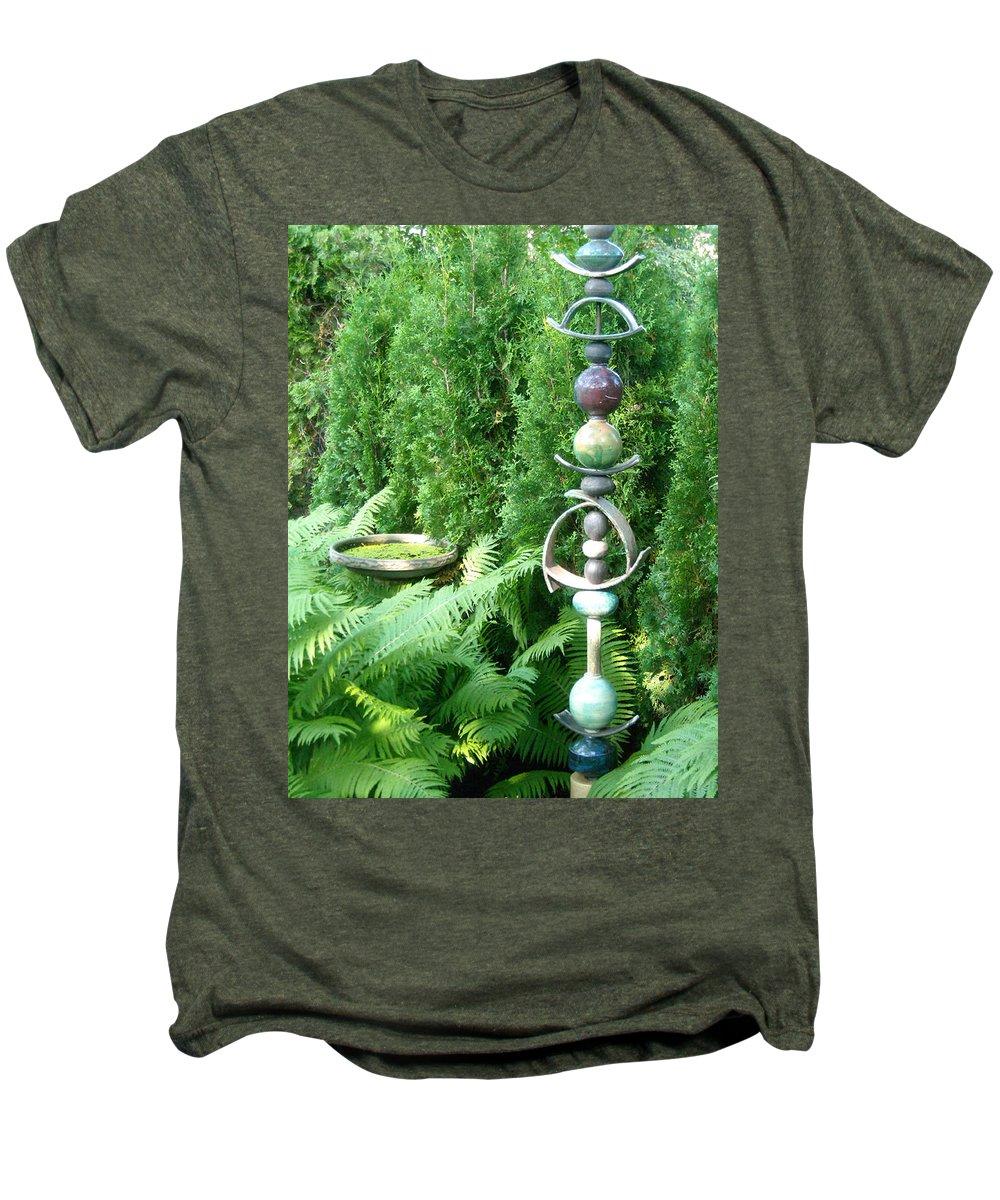Sculpture Men's Premium T-Shirt featuring the photograph And Sculpture Garden by Line Gagne