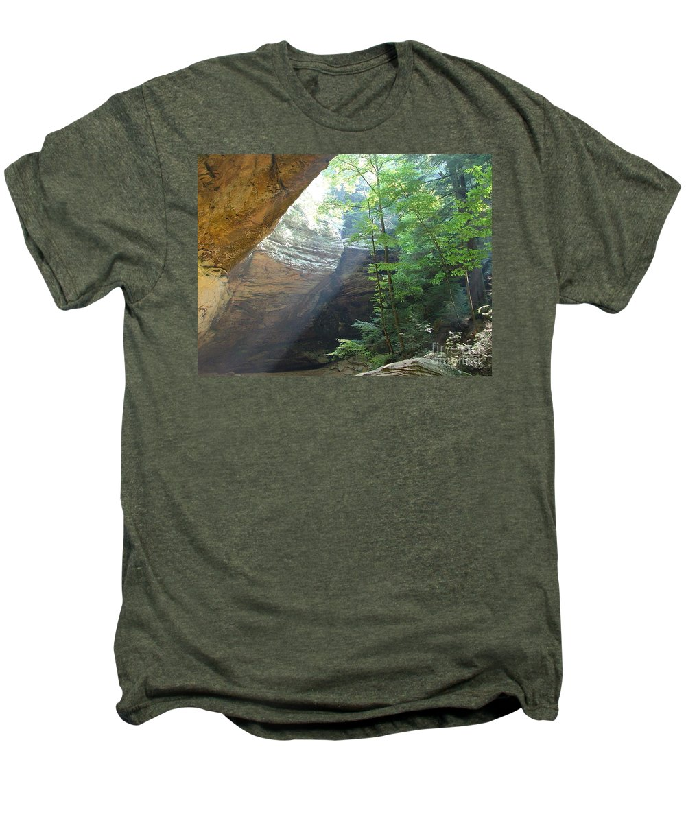 Photograph Men's Premium T-Shirt featuring the photograph Ash Cave by Mindy Newman
