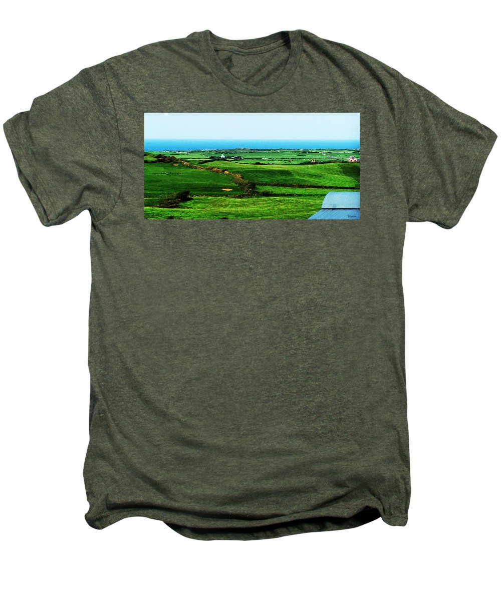 Ireland Men's Premium T-Shirt featuring the photograph Atlantic View Doolin Ireland by Teresa Mucha