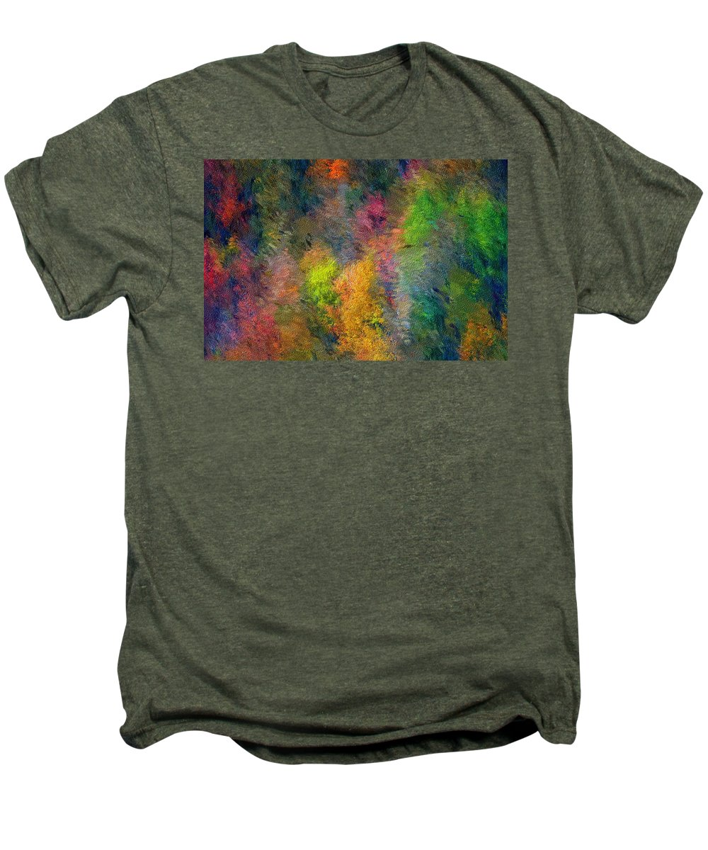Landscape Men's Premium T-Shirt featuring the digital art Autum Hillside by David Lane
