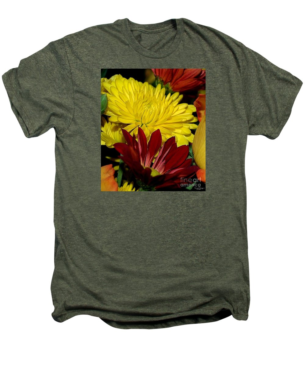 Chrysanthemum Photography Men's Premium T-Shirt featuring the photograph Autumn Colors by Patricia Griffin Brett
