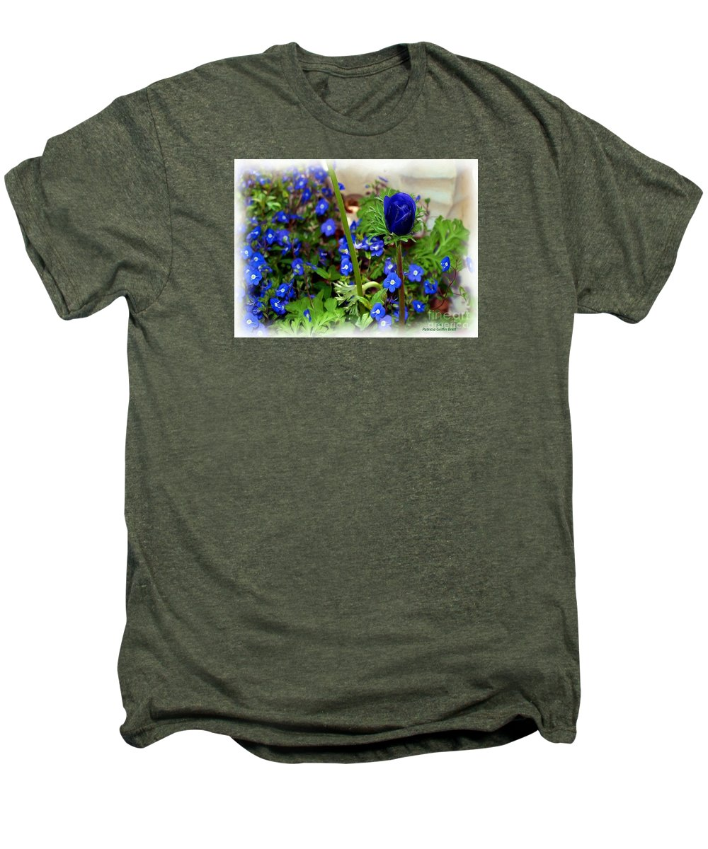 Fine Art Men's Premium T-Shirt featuring the painting Babys Got The Blues by Patricia Griffin Brett