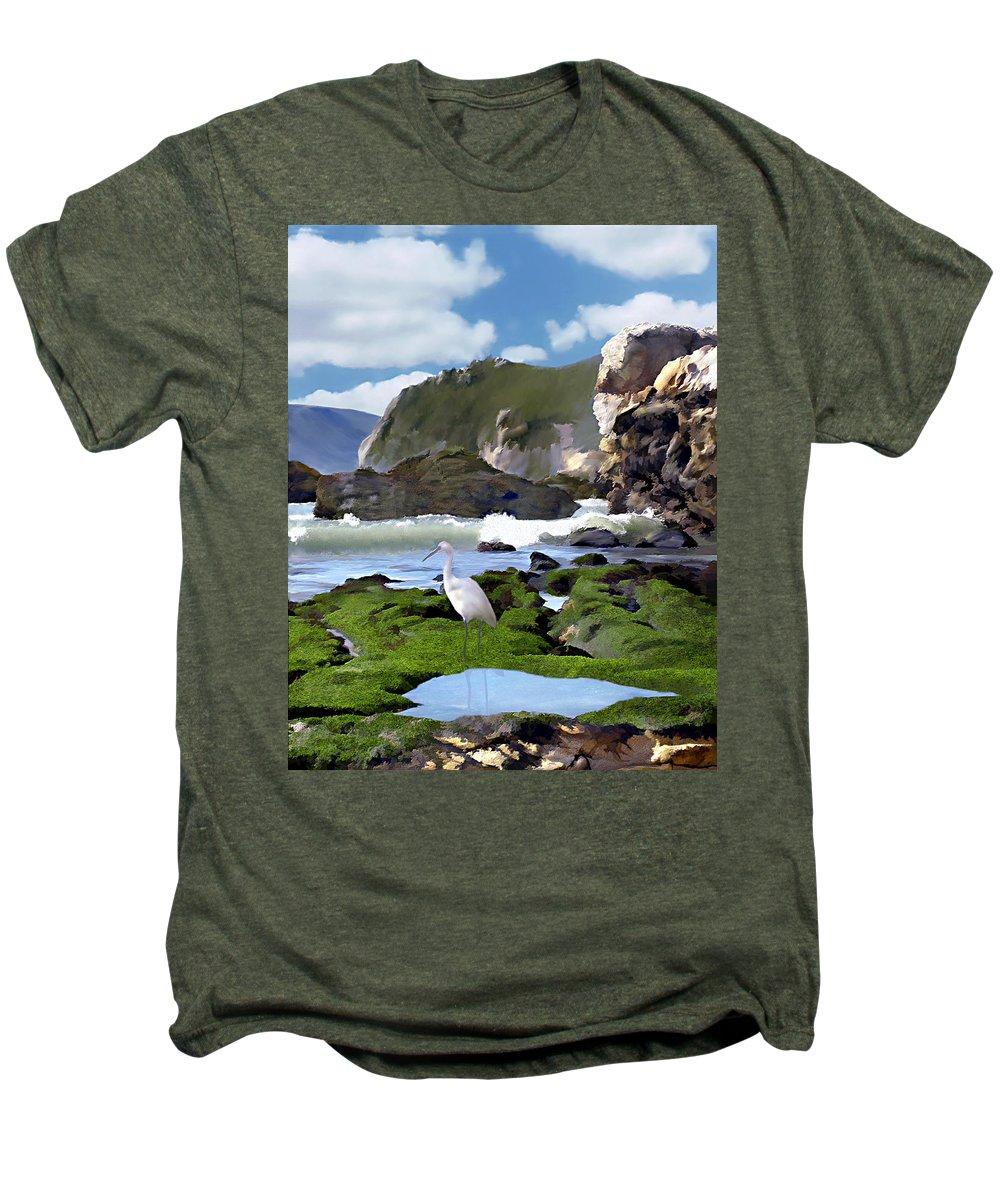 Ocean Men's Premium T-Shirt featuring the photograph Bird's Eye View by Kurt Van Wagner