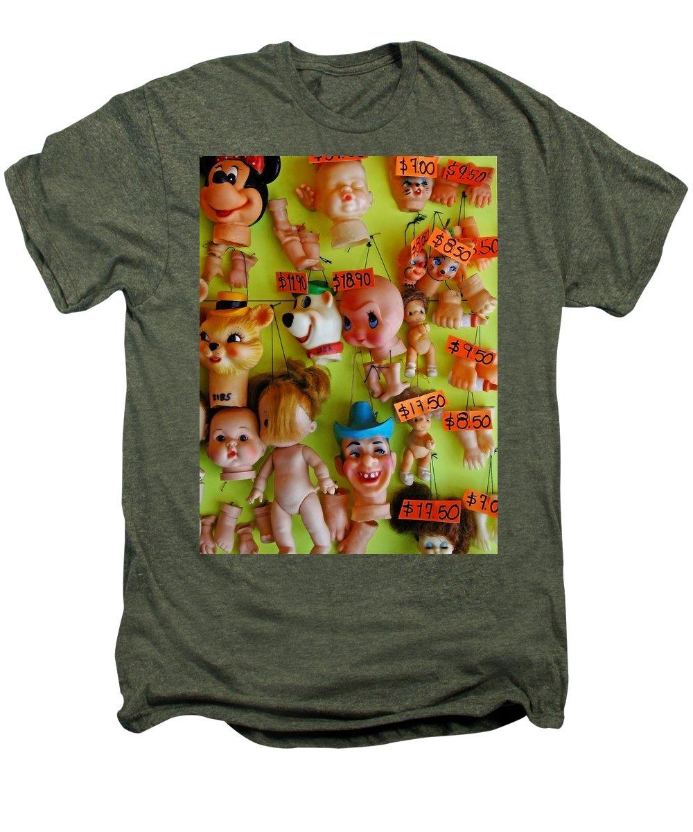 Heads Men's Premium T-Shirt featuring the photograph Black Market Parts by Skip Hunt
