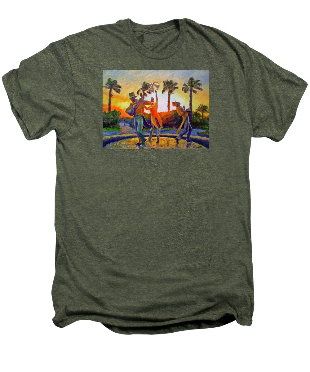 Sunset Men's Premium T-Shirt featuring the painting Cape Minstrels by Michael Durst
