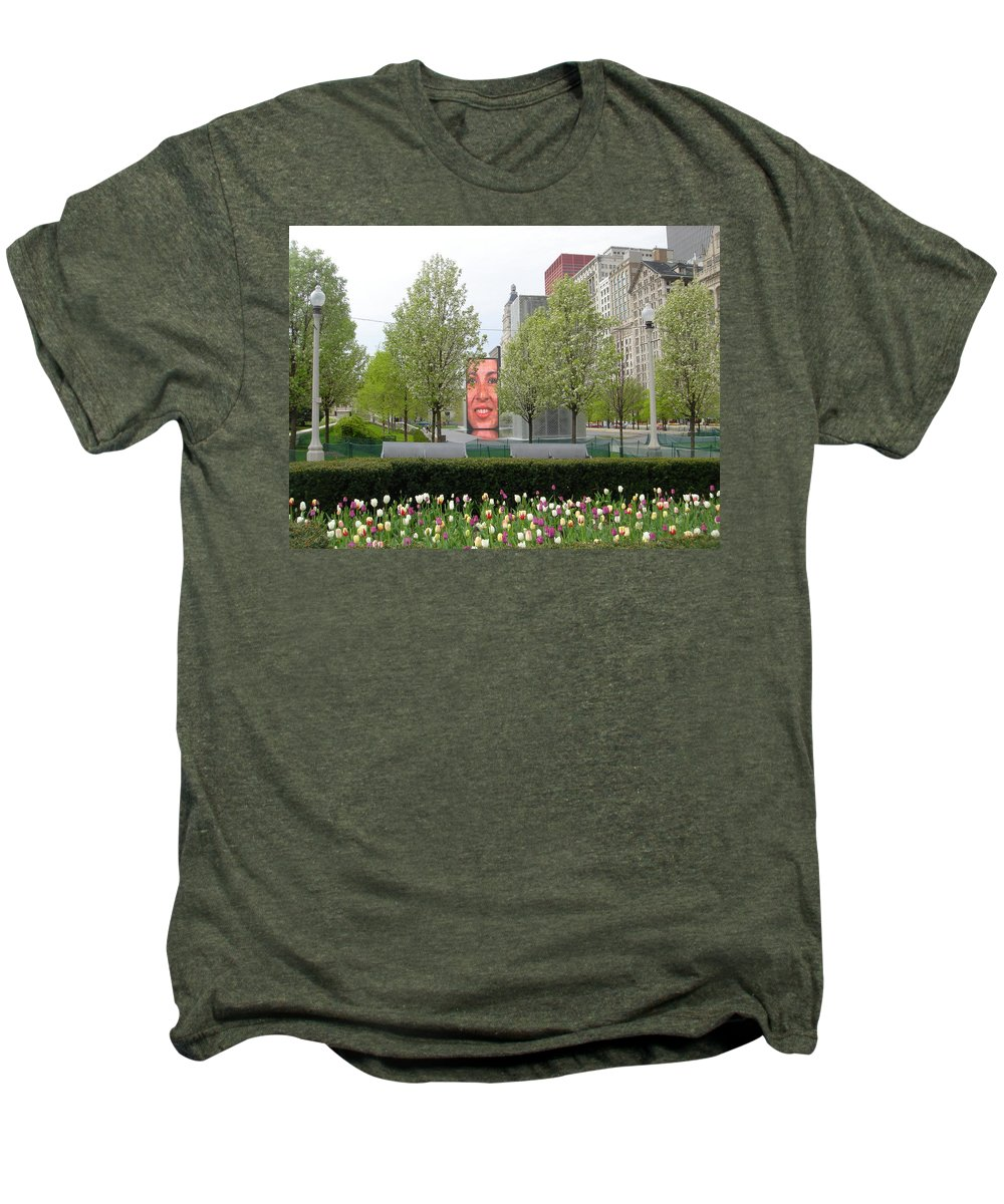 Chicago Men's Premium T-Shirt featuring the photograph Chicago by Jean Macaluso