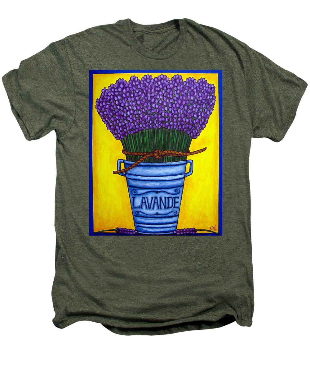 Antique Men's Premium T-Shirt featuring the painting Colours Of Provence by Lisa Lorenz