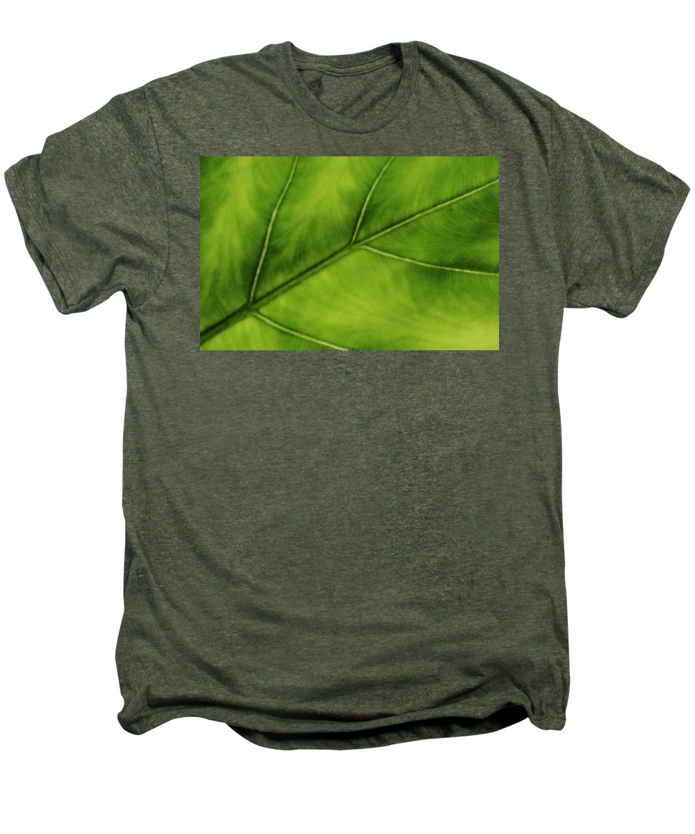 Leaf Men's Premium T-Shirt featuring the photograph Elephant Ear by Marilyn Hunt