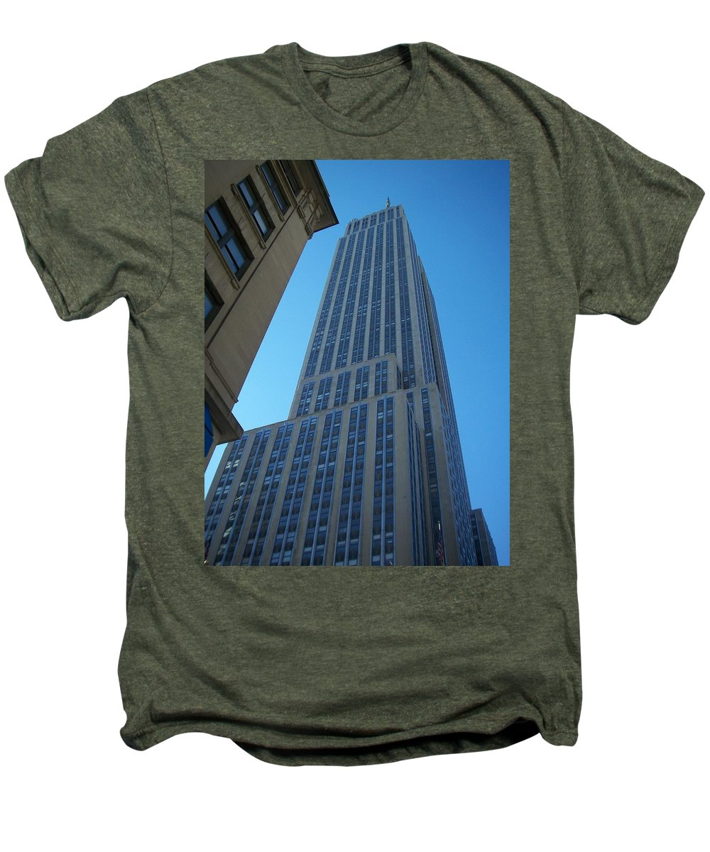 Emoire State Building Men's Premium T-Shirt featuring the photograph Empire State 2 by Anita Burgermeister