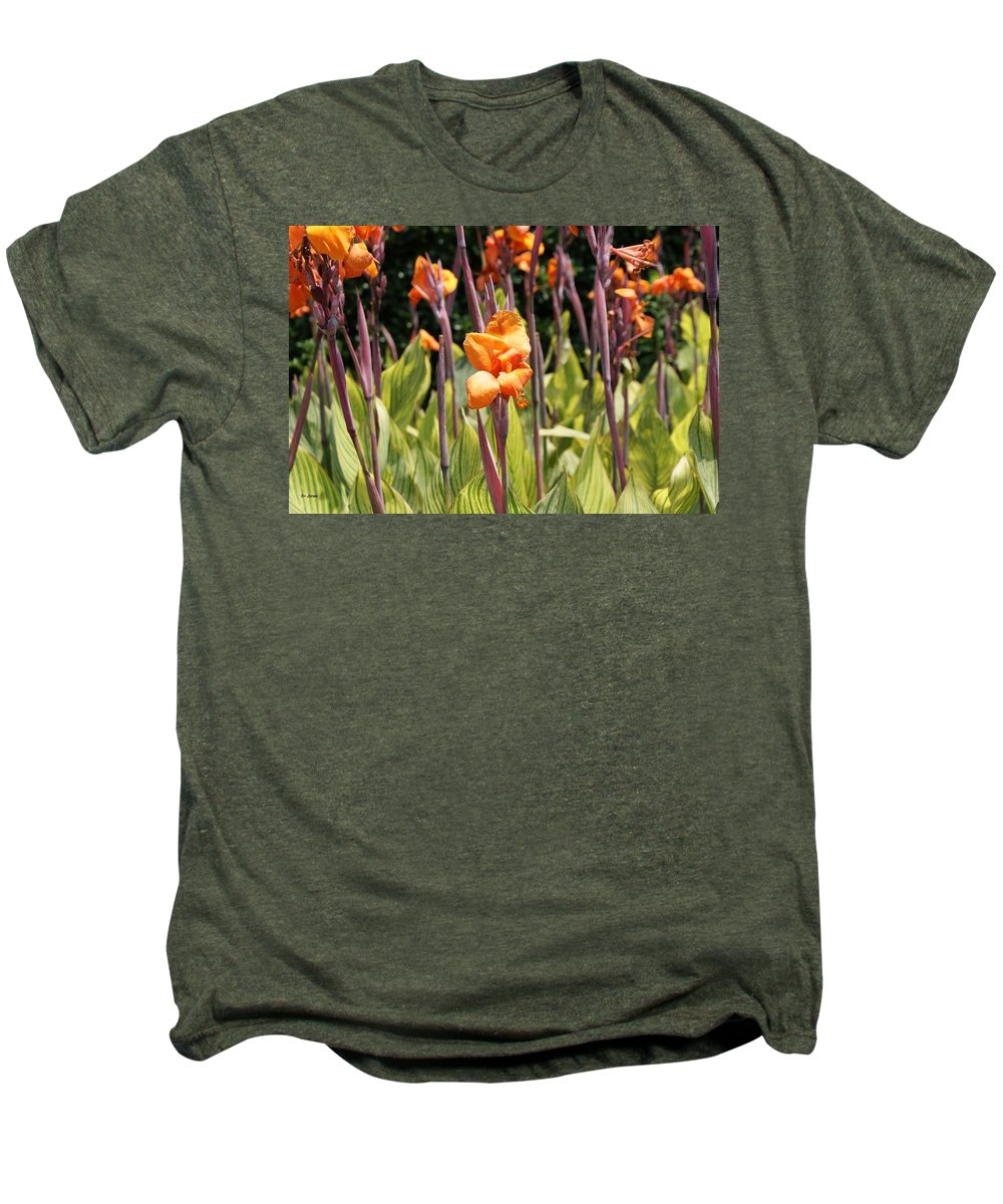 Floral Men's Premium T-Shirt featuring the photograph Field For Iris by Shelley Jones