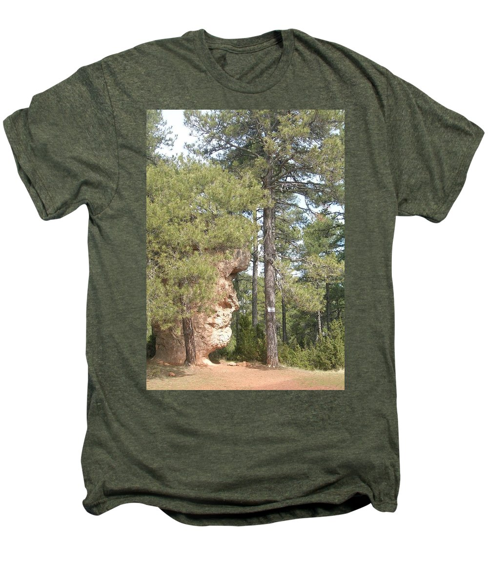Landscape Men's Premium T-Shirt featuring the photograph Forest Face by Valerie Ornstein
