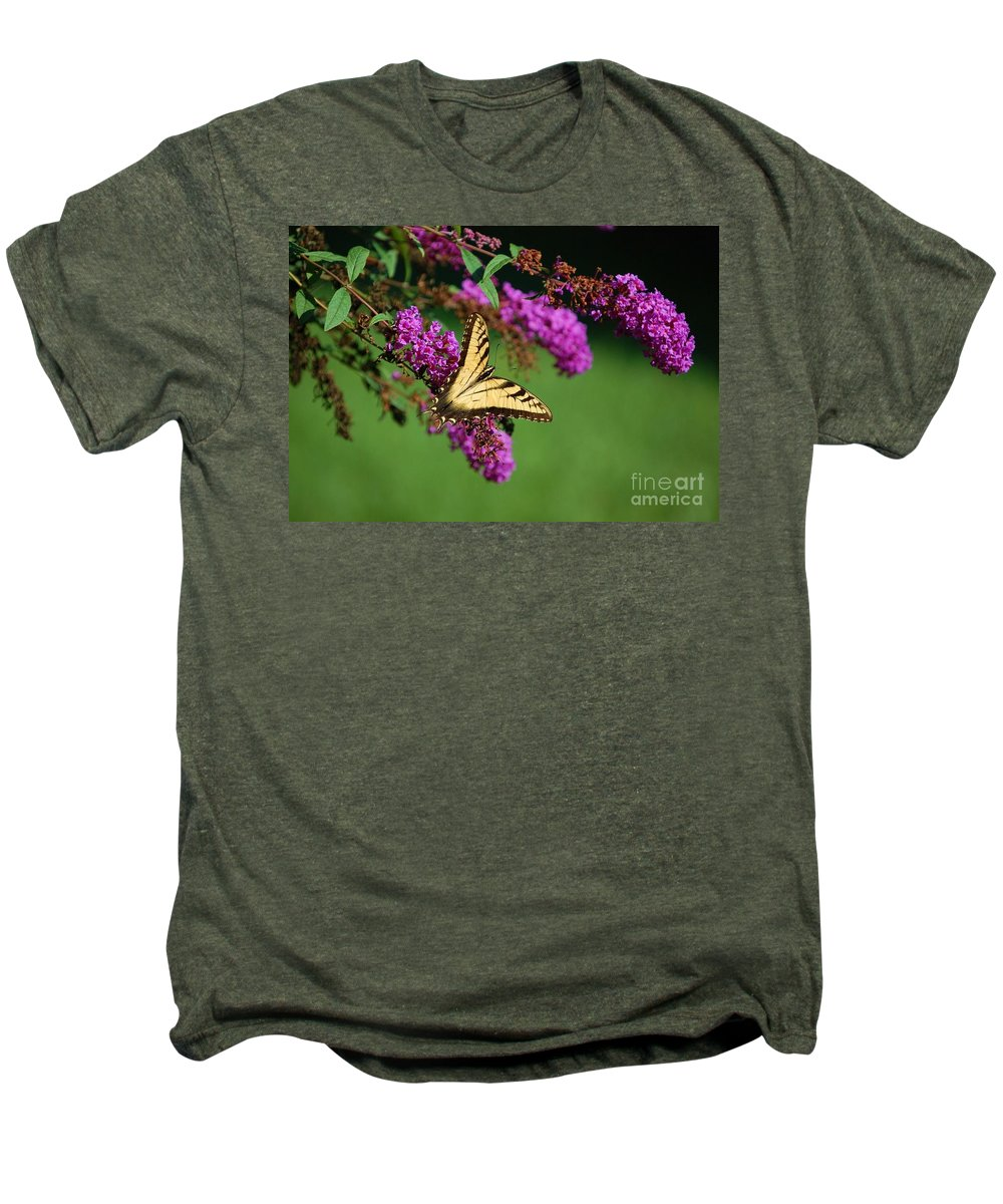 Butterfly Men's Premium T-Shirt featuring the photograph Freedom by Debbi Granruth