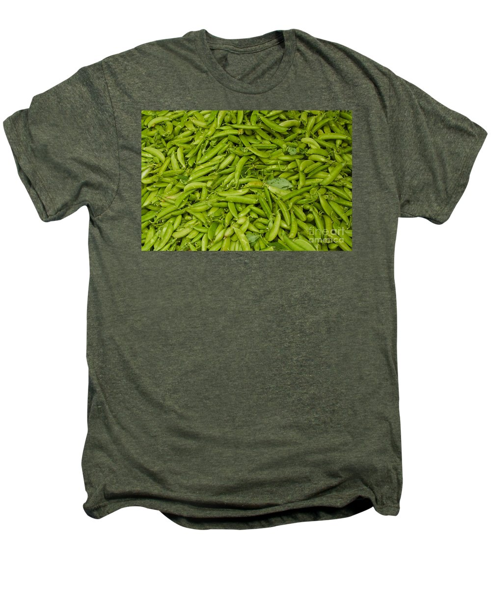 Green Men's Premium T-Shirt featuring the photograph Green Beans by Thomas Marchessault