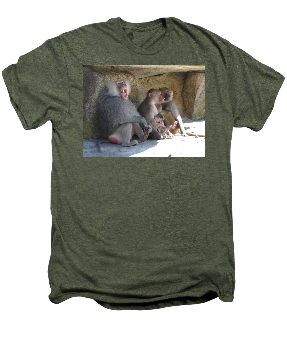 Animal Men's Premium T-Shirt featuring the photograph I Am The King Here by Valerie Ornstein