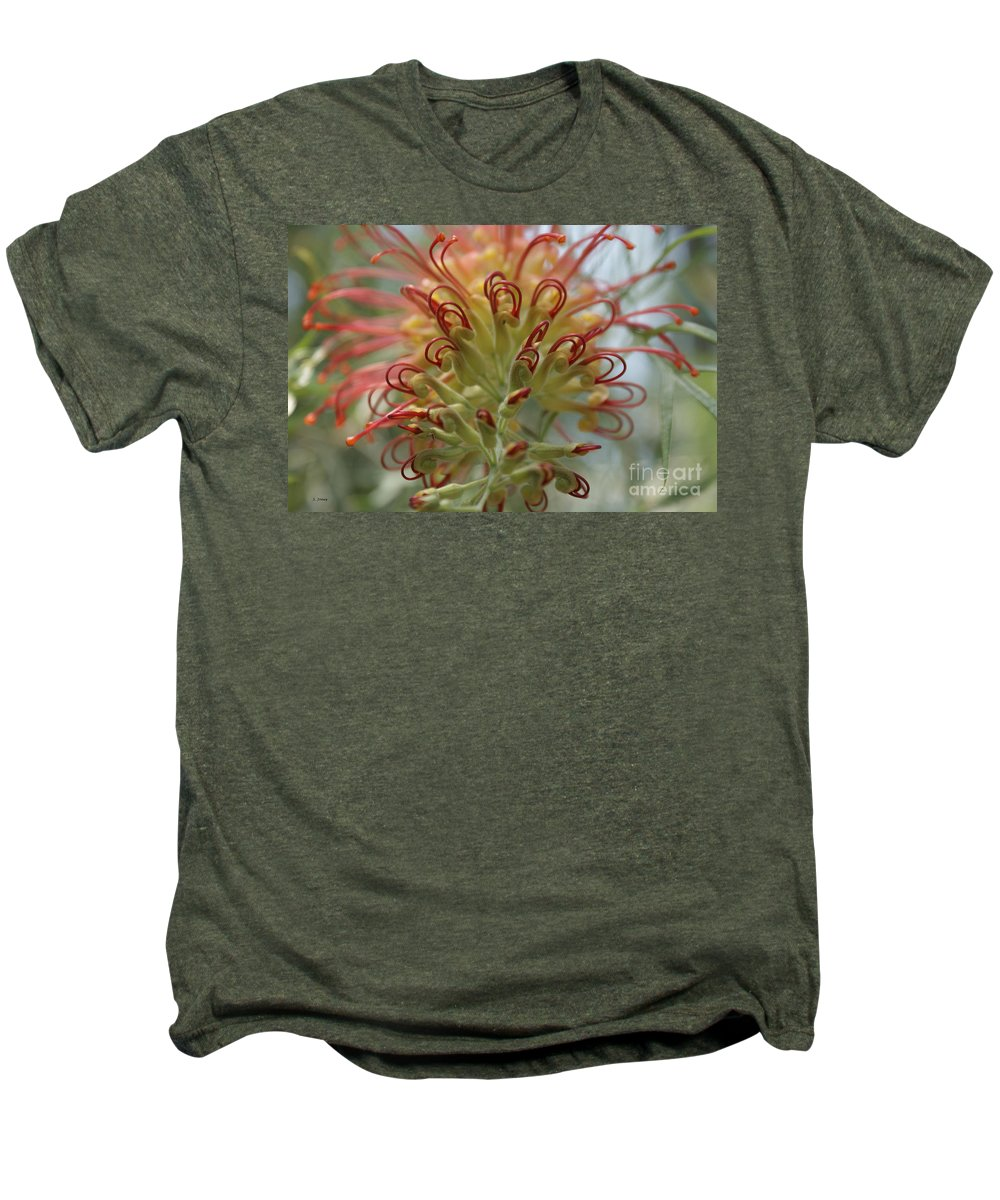 Floral Men's Premium T-Shirt featuring the photograph Like Stems Of A Cherry by Shelley Jones