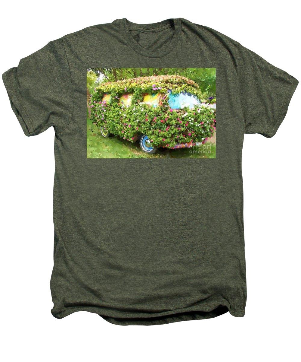 Volkswagen Men's Premium T-Shirt featuring the photograph Magic Bus by Debbi Granruth