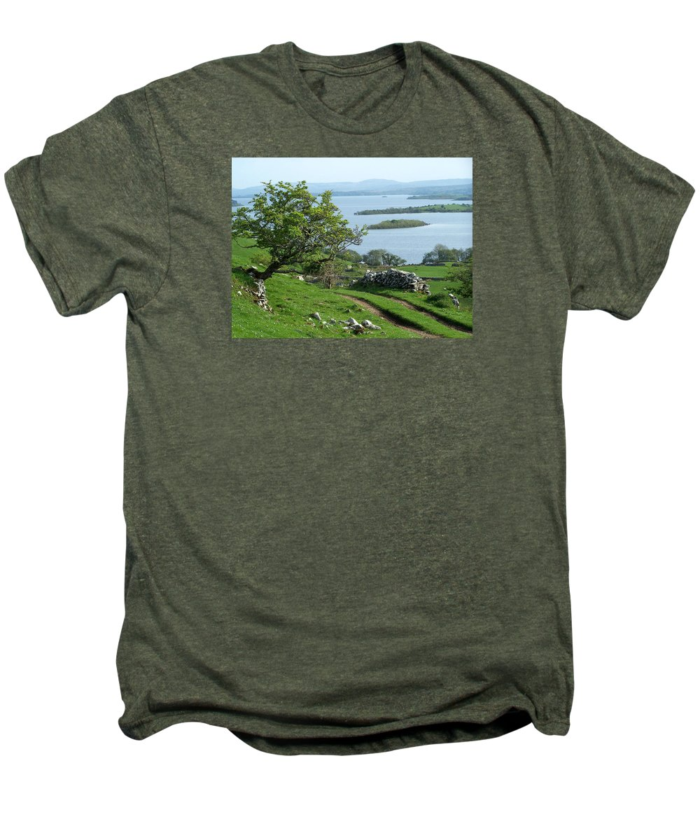 Ireland Men's Premium T-Shirt featuring the photograph May The Road Rise To Meet You by Teresa Mucha