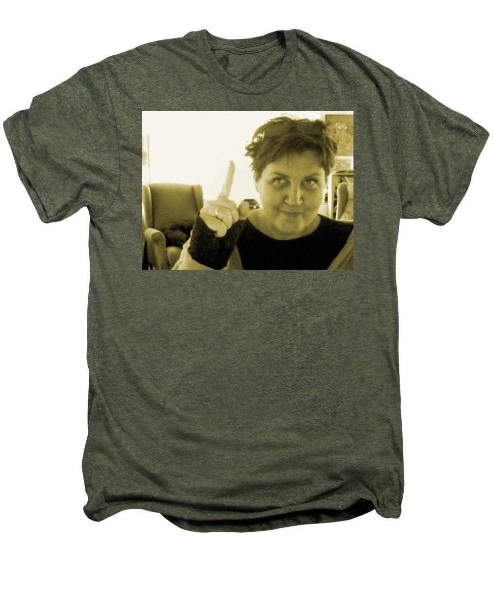 Men's Premium T-Shirt featuring the pyrography me by Veronica Jackson