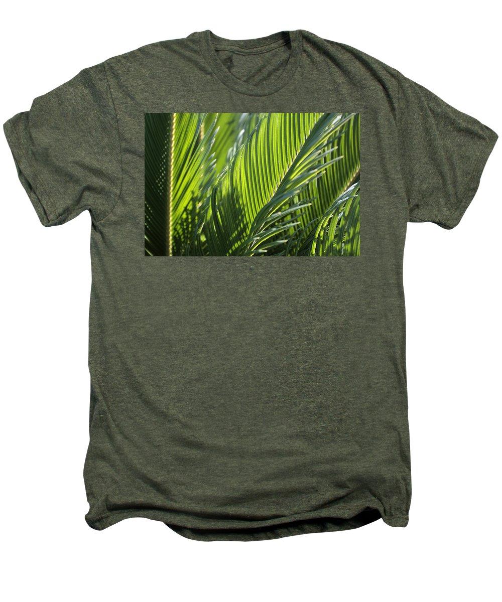 Palm Men's Premium T-Shirt featuring the photograph Palm Leaf by Phil Crean
