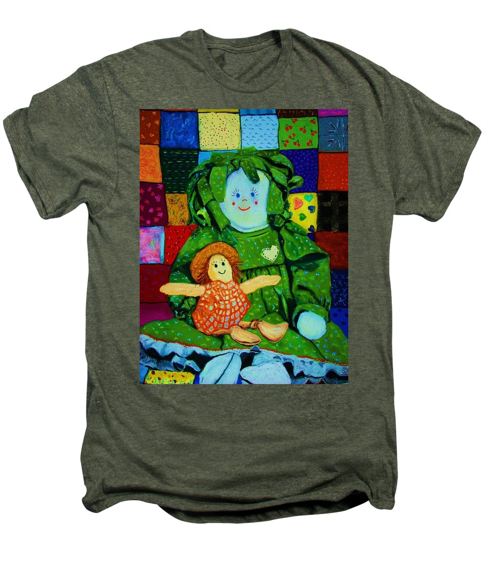 Dolls Men's Premium T-Shirt featuring the print Sew Sweet by Melinda Etzold