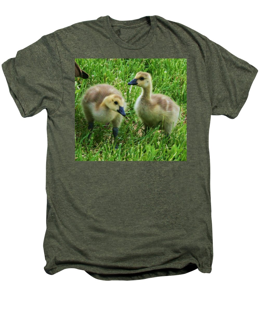 Nature Men's Premium T-Shirt featuring the photograph Siblings by Angus Hooper Iii