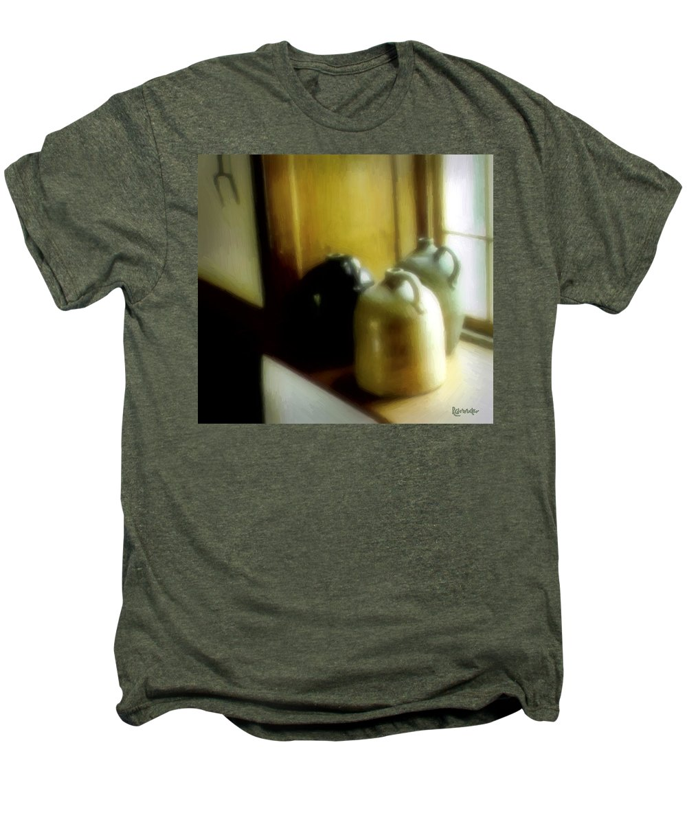 Antiques Men's Premium T-Shirt featuring the digital art Still Life With Stoneware by RC DeWinter