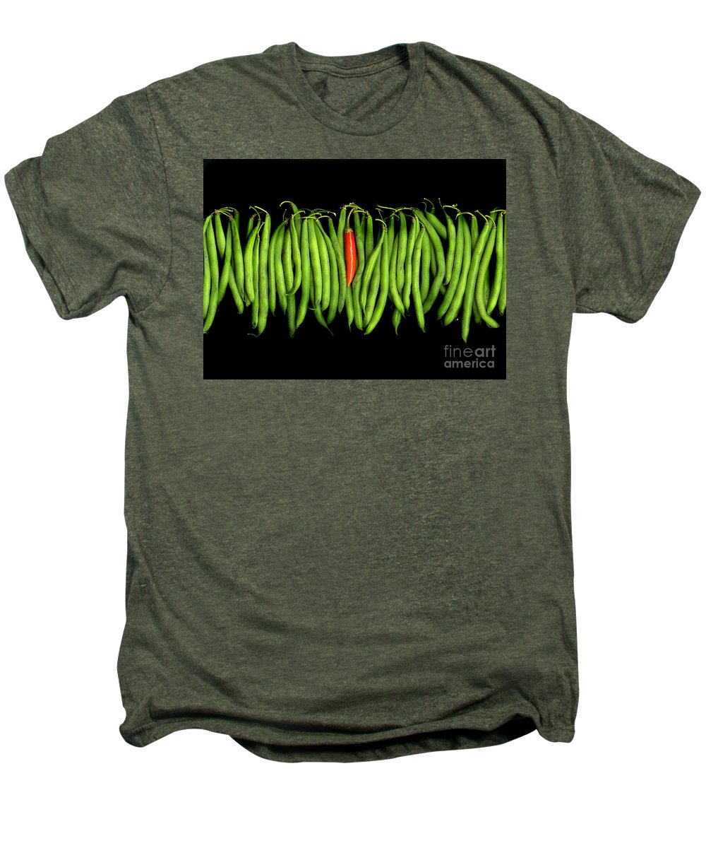 Culinary Men's Premium T-Shirt featuring the photograph Stringbeans And Chilli by Christian Slanec