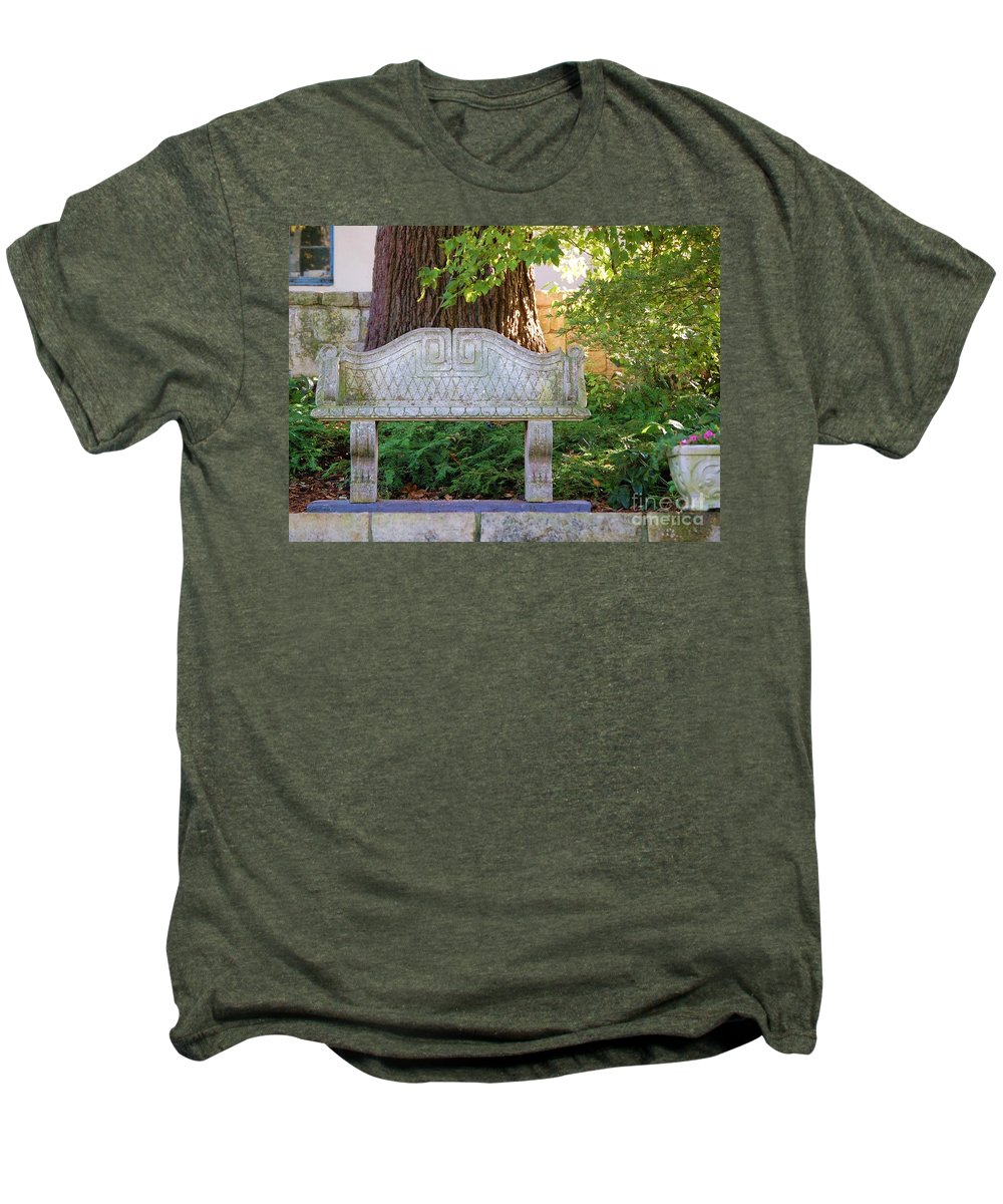 Bench Men's Premium T-Shirt featuring the photograph Take A Break by Debbi Granruth