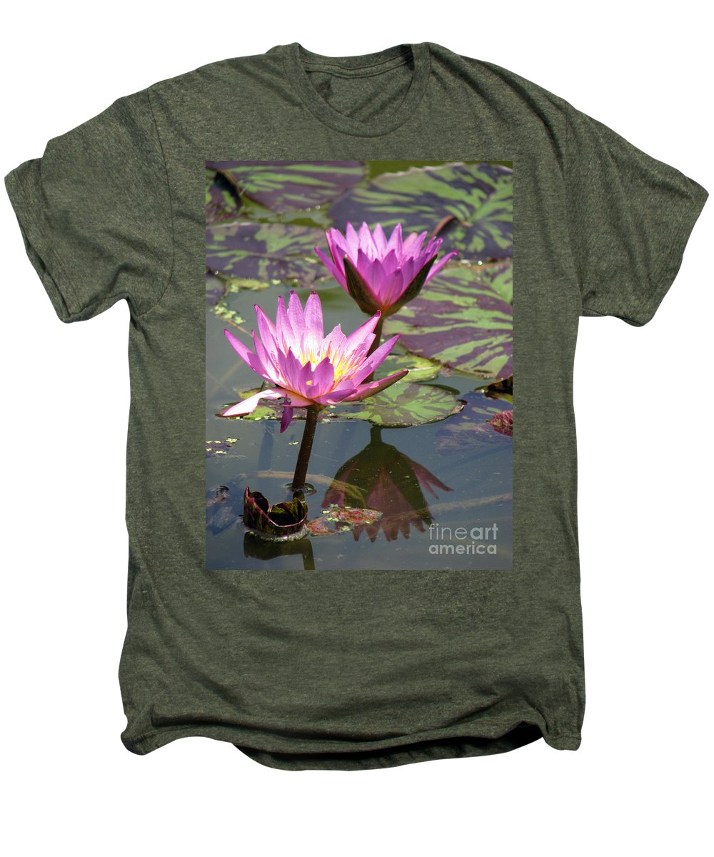 Lillypad Men's Premium T-Shirt featuring the photograph The Pond by Amanda Barcon