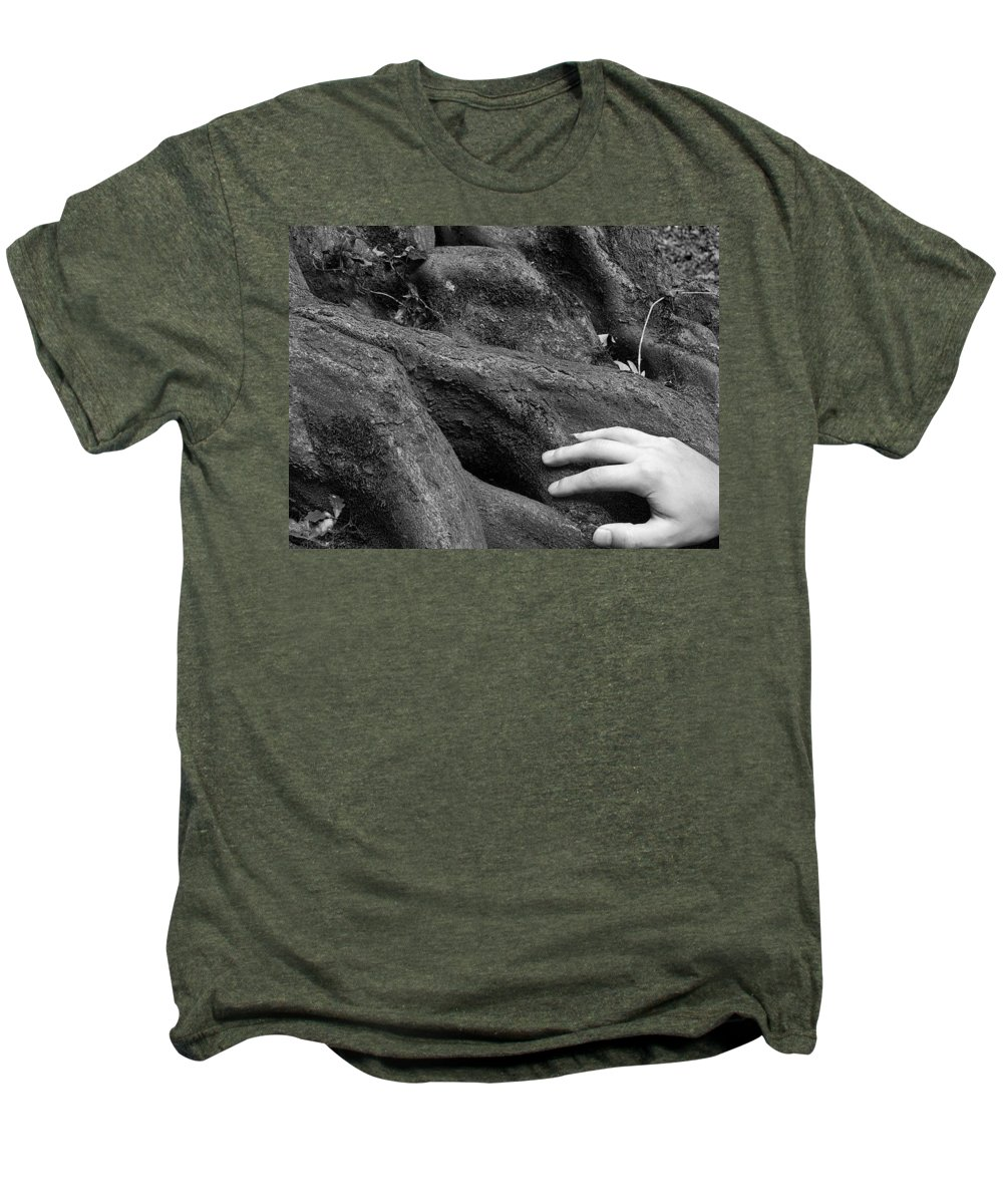 Nature Men's Premium T-Shirt featuring the photograph The Roots by Daniel Csoka