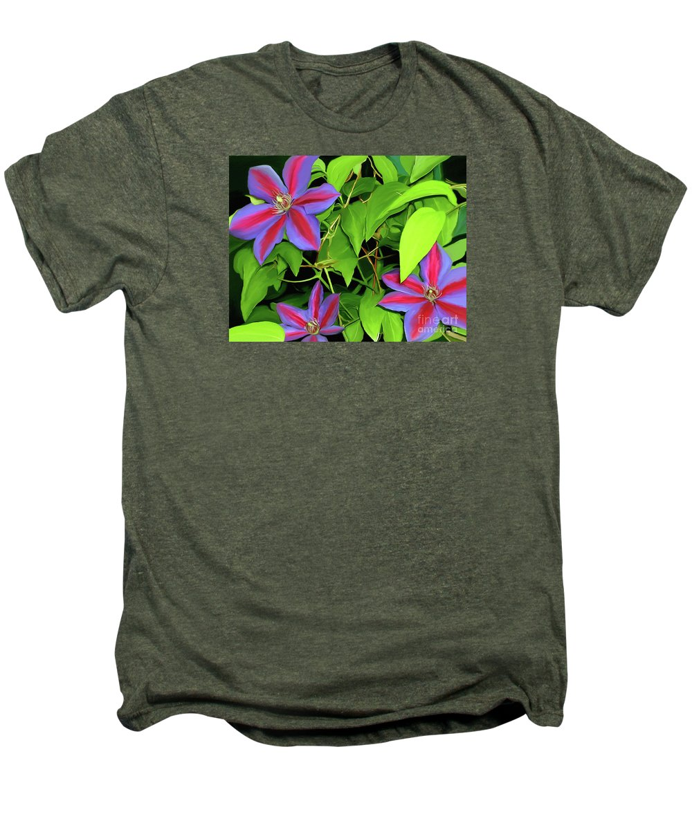 Mixed Media Art Men's Premium T-Shirt featuring the painting Three Jacks by Patricia Griffin Brett