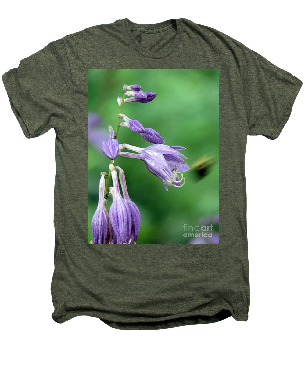 Bees Men's Premium T-Shirt featuring the photograph Too Busy To Notice by Amanda Barcon