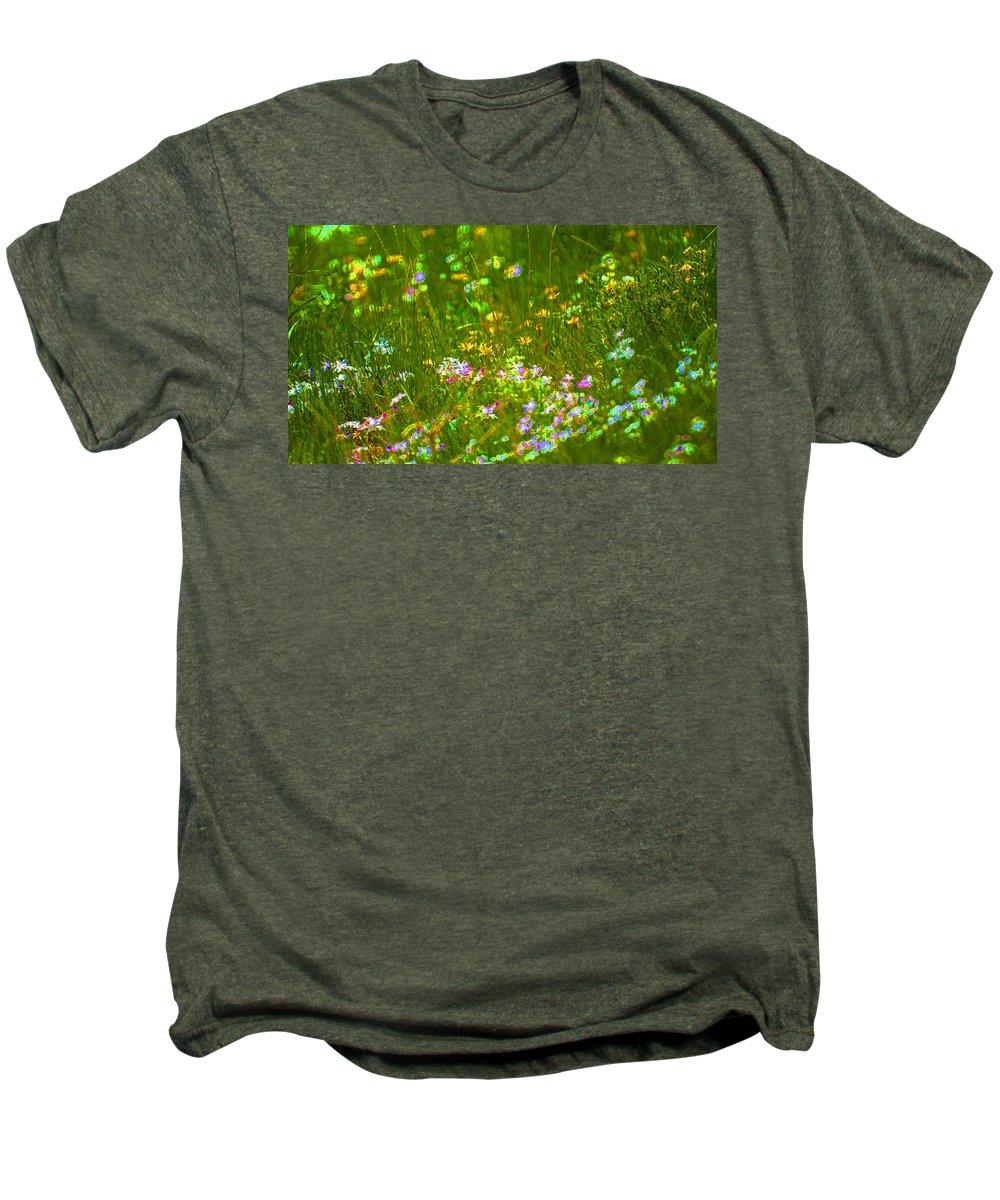 Wildflower Men's Premium T-Shirt featuring the photograph Wildflower Field by Heather Coen