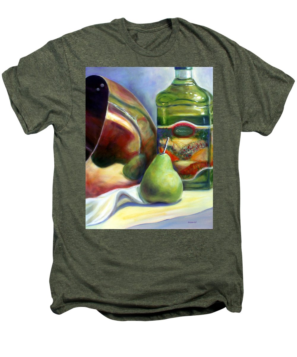 Copper Vessel Men's Premium T-Shirt featuring the painting Zabaglione Pan by Shannon Grissom