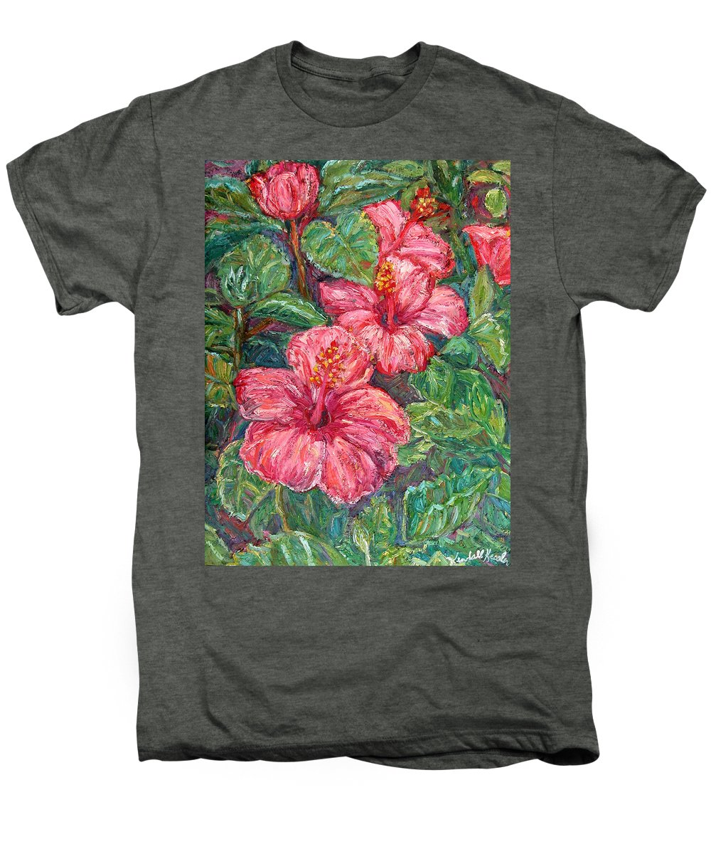 Hibiscus Men's Premium T-Shirt featuring the painting Hibiscus by Kendall Kessler