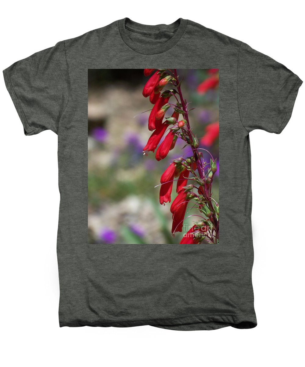 Flowers Men's Premium T-Shirt featuring the photograph Penstemon by Kathy McClure