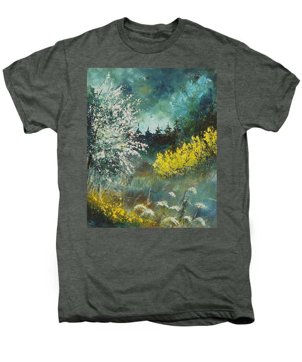 Spring Men's Premium T-Shirt featuring the painting Spring by Pol Ledent