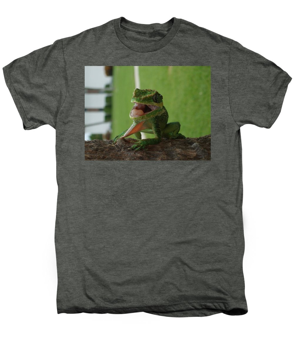 Iguana Men's Premium T-Shirt featuring the photograph Chilling On Wood by Rob Hans