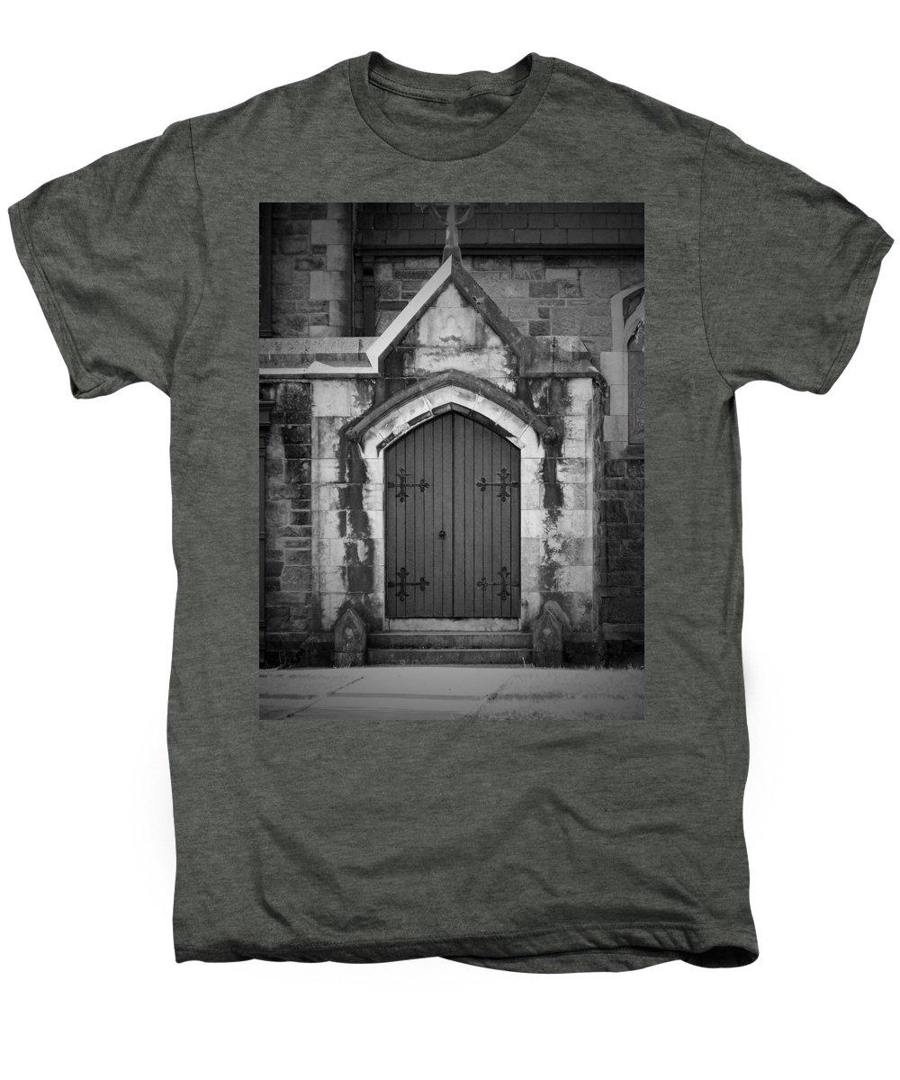 Irish Men's Premium T-Shirt featuring the photograph Door At St. Johns In Tralee Ireland by Teresa Mucha
