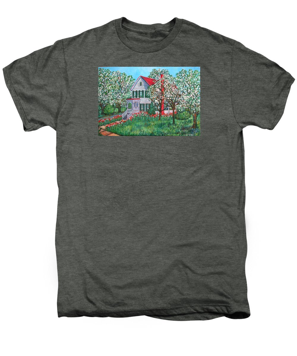 Home Men's Premium T-Shirt featuring the painting Esther's Home by Kendall Kessler