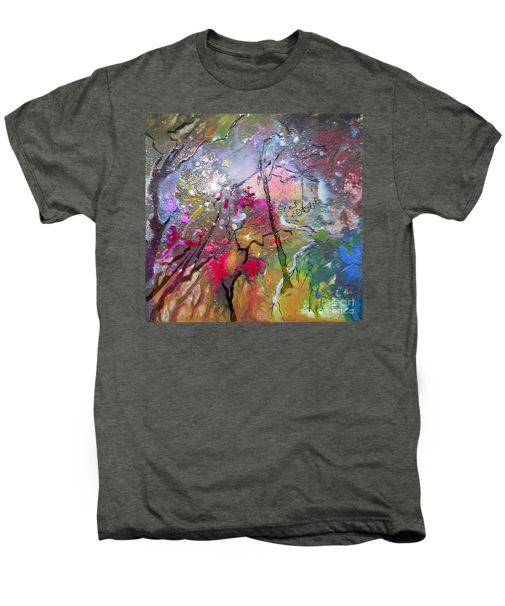Miki Men's Premium T-Shirt featuring the painting Fantaspray 19 1 by Miki De Goodaboom