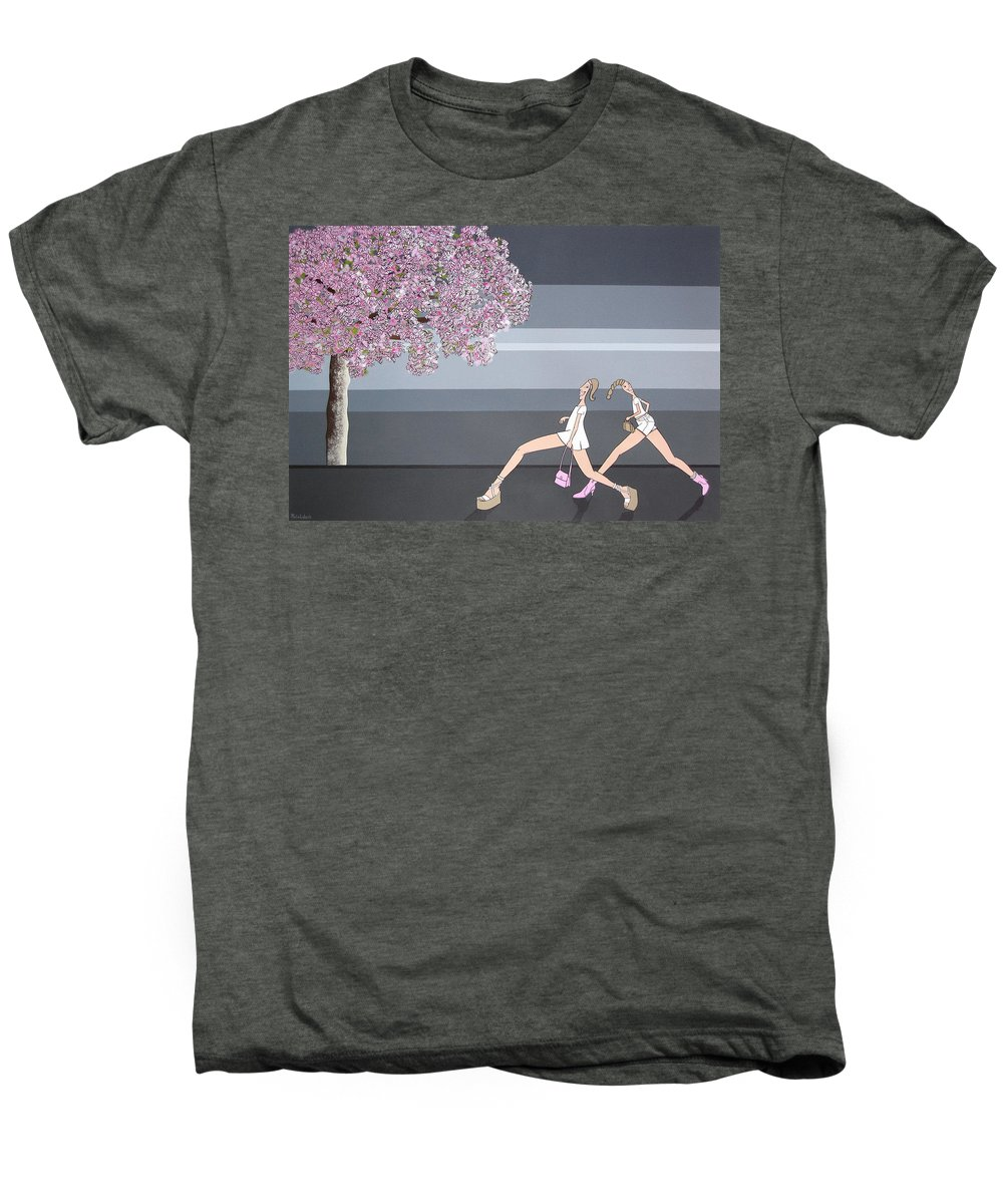 Girls Men's Premium T-Shirt featuring the painting Fifteen by Patricia Van Lubeck