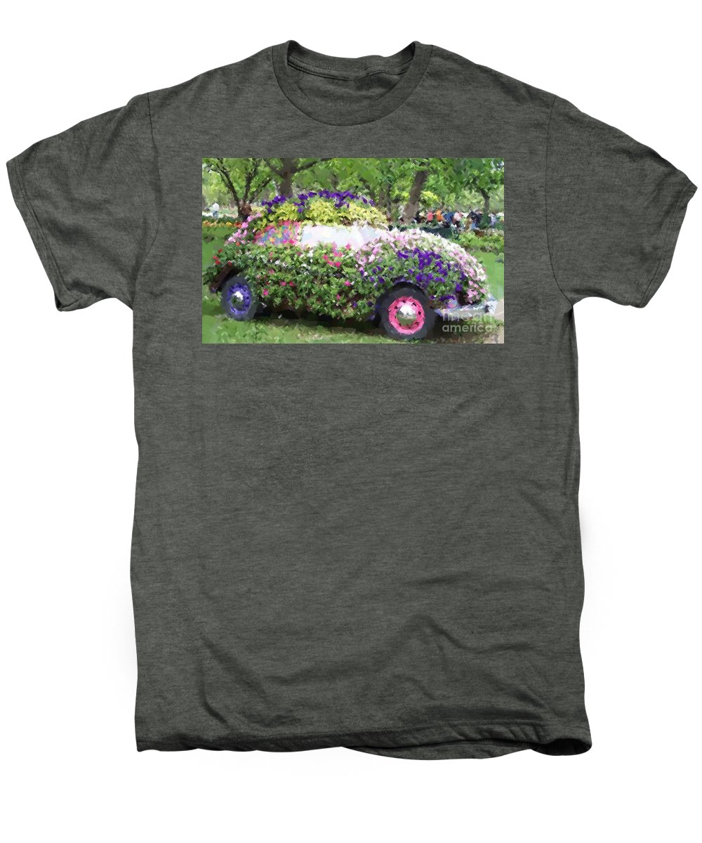 Cars Men's Premium T-Shirt featuring the photograph Flower Power by Debbi Granruth