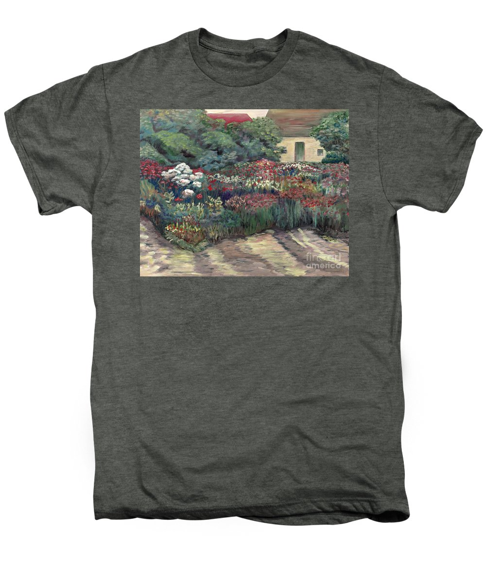 Breck Men's Premium T-Shirt featuring the painting Garden At Giverny by Nadine Rippelmeyer