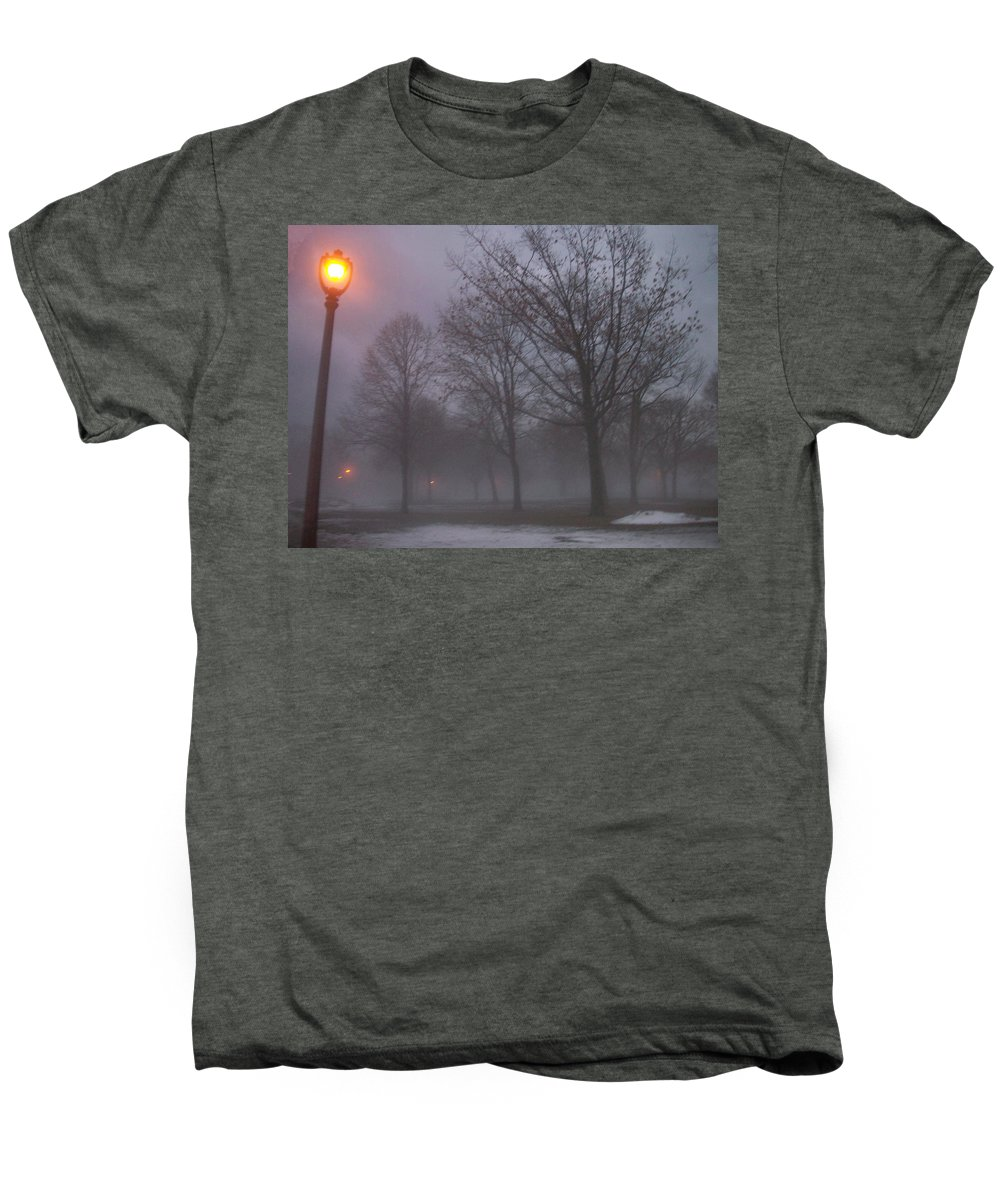 January Men's Premium T-Shirt featuring the photograph January Fog 3 by Anita Burgermeister