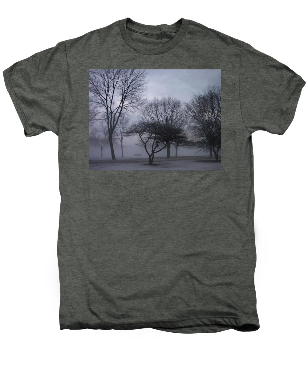 January Men's Premium T-Shirt featuring the photograph January Fog 6 by Anita Burgermeister