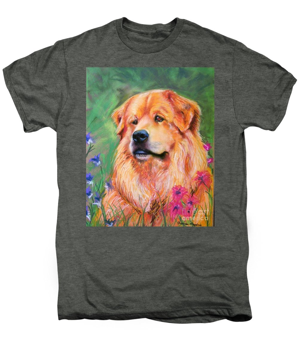 Chow Men's Premium T-Shirt featuring the painting Molly by Frances Marino