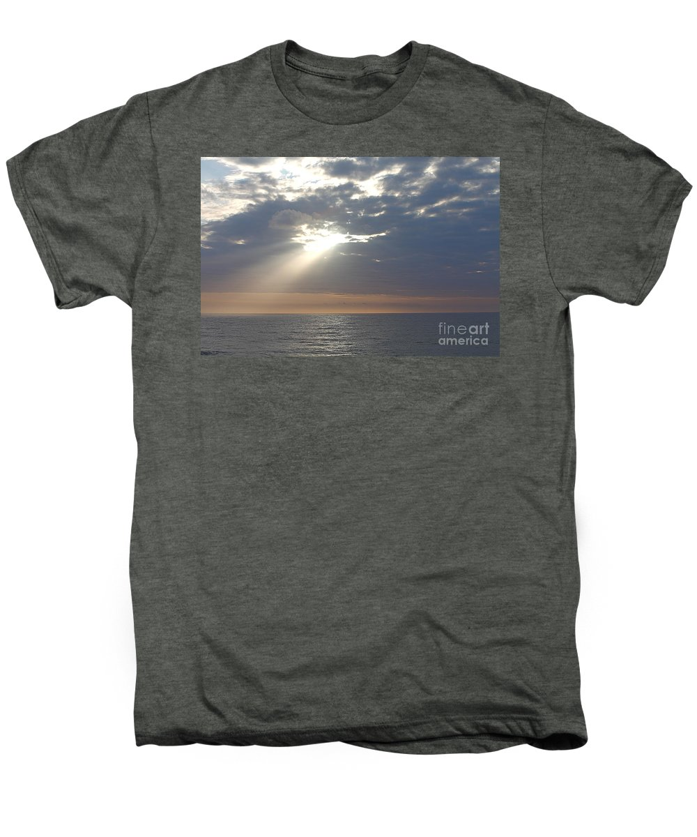 Sky Men's Premium T-Shirt featuring the photograph Morning Sunburst by Nadine Rippelmeyer