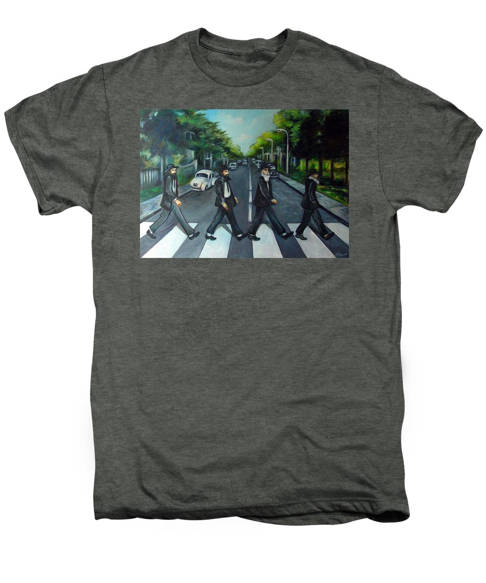 Surreal Men's Premium T-Shirt featuring the painting Rabbi Road by Valerie Vescovi
